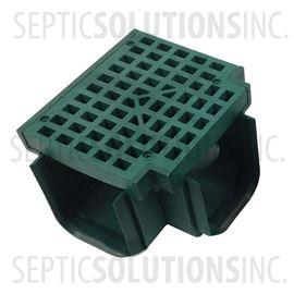 Polylok Heavy Duty Trench/Channel Drain Tee & Grate (Green)