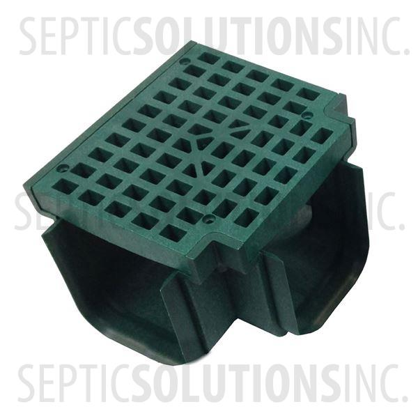 Polylok Heavy Duty Trench/Channel Drain Tee & Grate (Green) - Part Number PL-90860-TGR