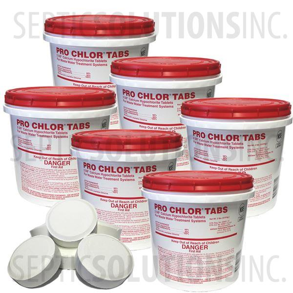 Pro-Chlor 6-Pack of 2lb Pails of Septic Chlorine Tablets - Part Number 47112