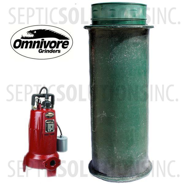 120 Gallon Pump Station with 2.0 HP Liberty Sewage Grinder Pump - Part Number 120FPT-LSG202