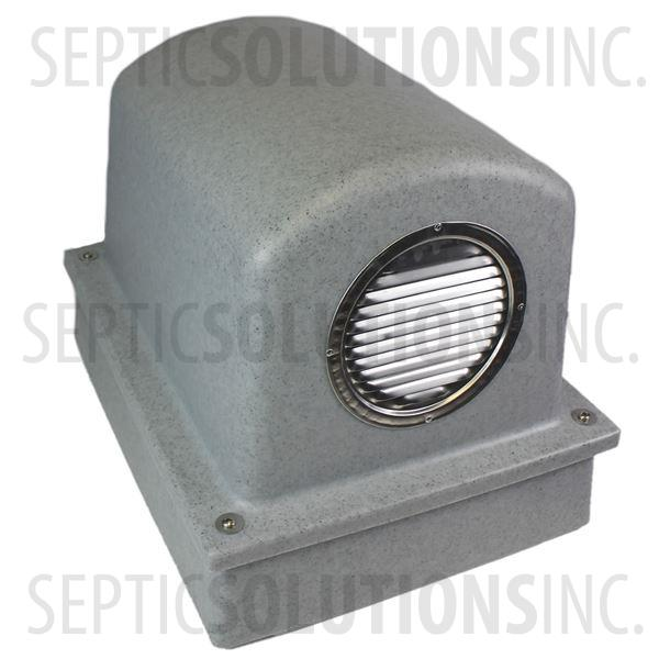 Pump Protector™ Vented Air Pump Housing and Platform in Speckled Granite - Part Number SSCOMBO-GRANITE
