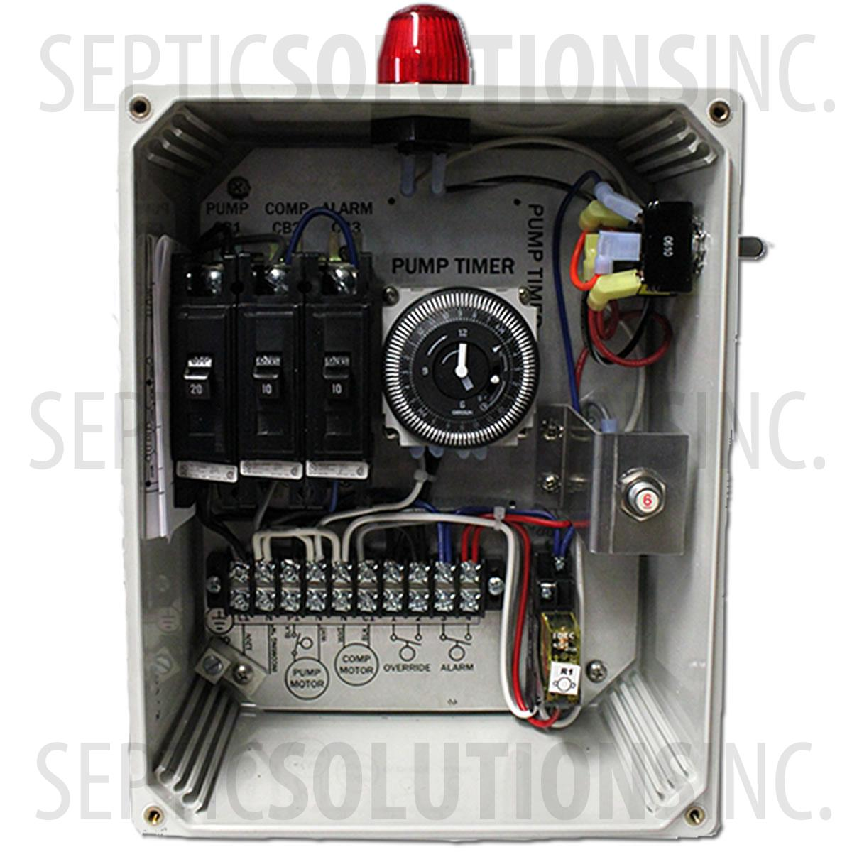 rwt 1l control panel for jet and norweco systems 50b009 rwt 1l rh septicsolutions com Electrical Control Panel Wiring Diagram Electrical Control Panel Wiring Diagram