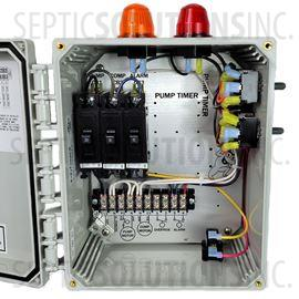 aerobic septic system control panels and alarms shipping whale of a deal bio b double light control panel for aerobic treatment systems