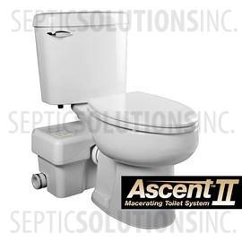 Liberty Ascent II RSW Mascerating Toilet System with Round Bowl
