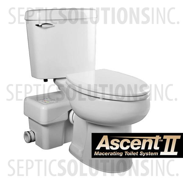 Liberty Ascent II RSW Mascerating Toilet System with Round Bowl - Part Number ASCENTII-RSW