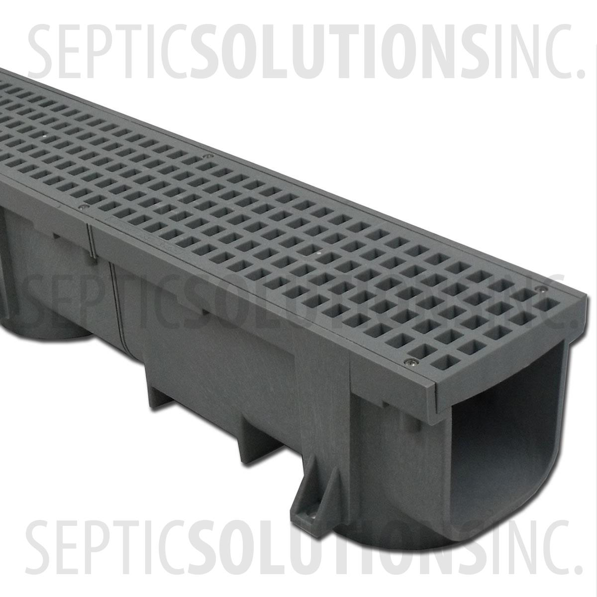 Heavy Duty Trench Channel Drain Grey 4 Ft Sections
