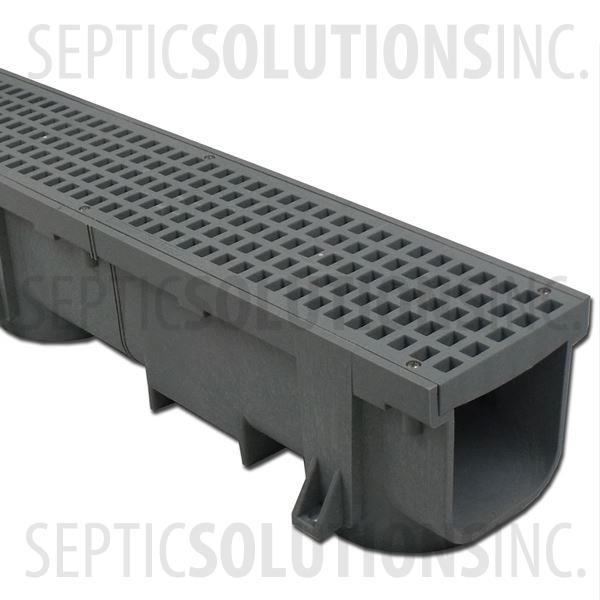 Polylok Heavy Duty Trench/Channel Drain - 4 ft Section (GREY) - Part Number PL-90860-G