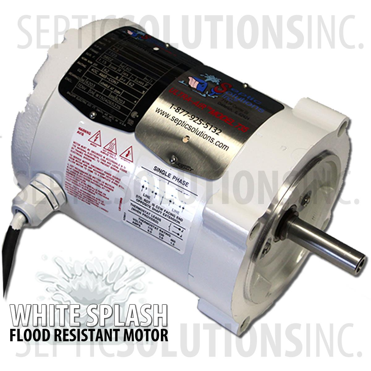 Ultra air model 735 white splash flood resistant Septic motor