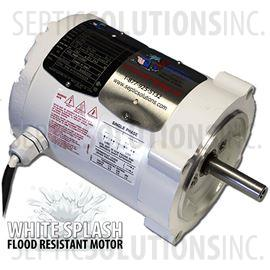 Ultra-Air Model 735 White Splash Flood Resistant Motor Only