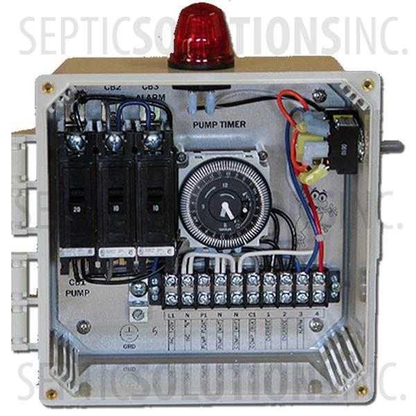 aerobic septic system control panels and alarms shipping bio c single light control panel for aerobic treatment systems
