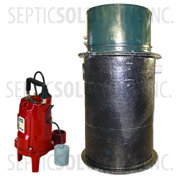 70 Gallon Pump Station with 1.0 HP Residential Grinder Pump - Part Number 2153-PRG1