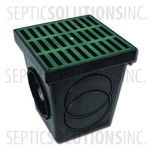Polylok 9'' x 9'' Square Catch Basin with Grate Cover
