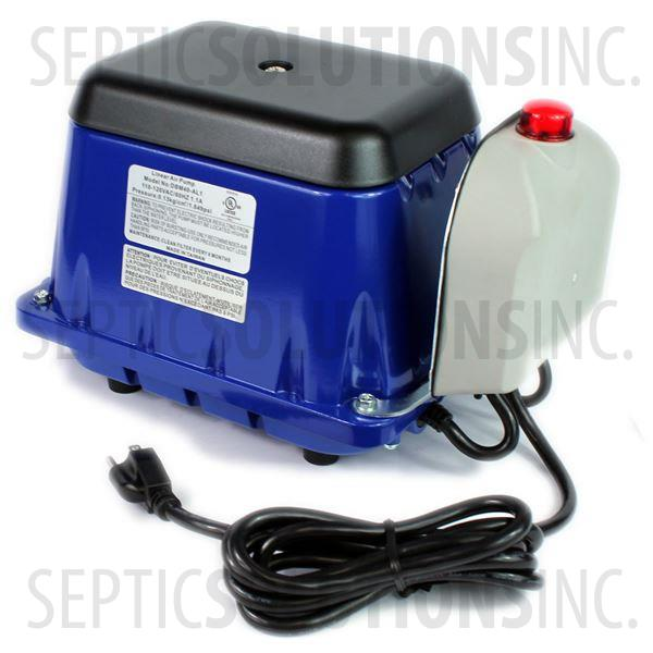 Cyclone SS-40-AL Linear Septic Air Pump with Attached Alarm - Part Number SS40AL