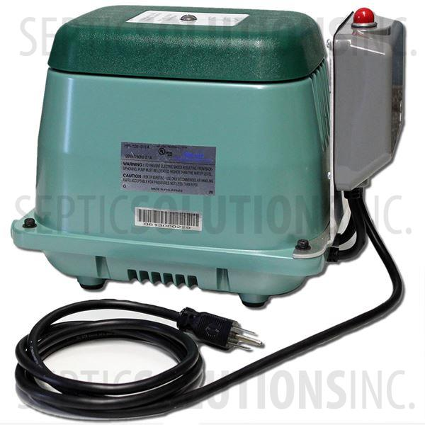 Hiblow HP-120LL Linear Septic Air Pump with Attached Alarm - Part Number HP120LL-011A