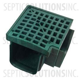 Polylok Heavy Duty Trench/Channel Drain 90 Degree Corner & Grate (Green)