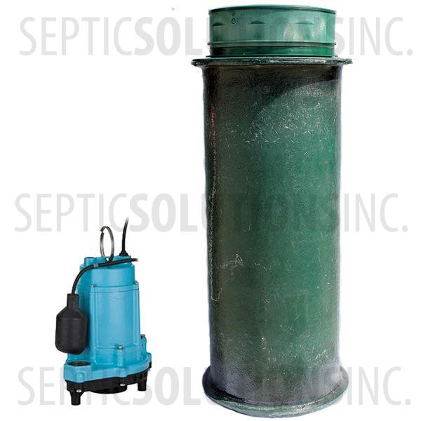 120 Gallon Simplex Fiberglass Pump Station with 1/3 HP Effluent Pump - Part Number 120FPT-13E