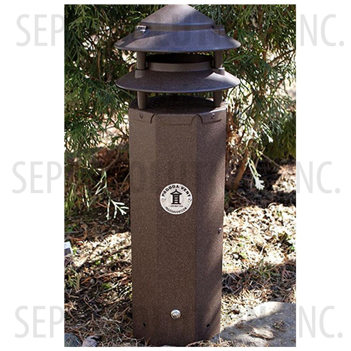 Three Foot Pagoda Vent In Bark Brown Pv3bark Free Shipping