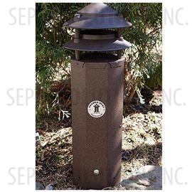 Three Foot Pagoda Vent in Bark Brown